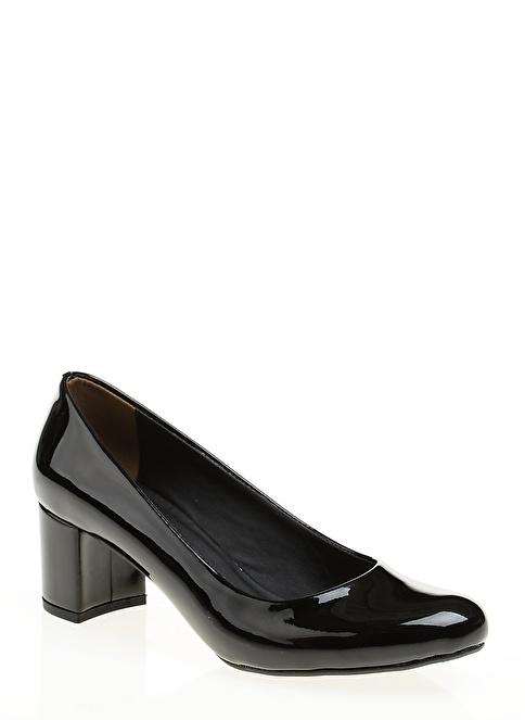 Bambi Rugan Kısa Topuklu Ayakkabı Siyah